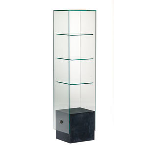 beauty product display rack / glass / for shops / for hairdressers