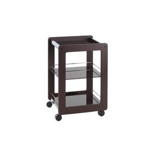 beauty salon trolley / for healthcare facilities / steel / glass