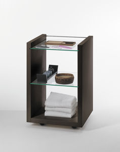 treatment trolley / for beauty salons / wooden / glass