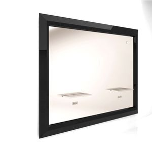 contemporary dressing table / stainless steel / extruded aluminum / wall-mounted