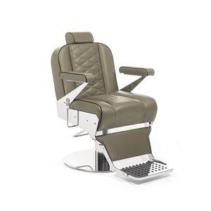 chromed metal barber chair