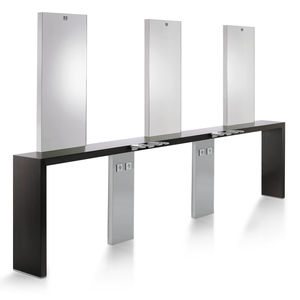 contemporary dressing table / laminate / aluminum / stainless steel