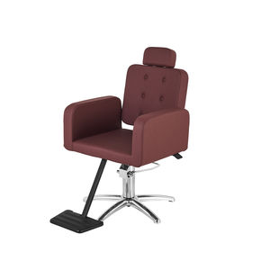 contemporary beauty salon chair / synthetic leather / with hydraulic pump / star base