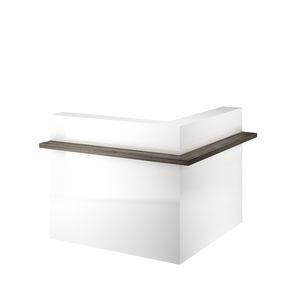 corner reception desk / laminate