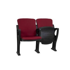 contemporary auditorium seating / fiberglass / polypropylene / fabric