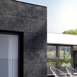 stone wall cladding panel / outdoor / textured / matte