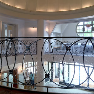 acrylic railing / with panels / indoor / for stairs