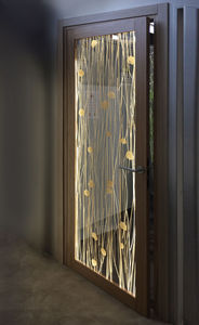 interior door / swing / acrylic / for hotel