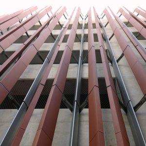 aluminum solar shading / steel / extruded aluminum / wooden
