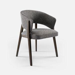 contemporary chair / fabric / beech / oak