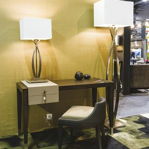 oak desk / contemporary / for hotel / with storage