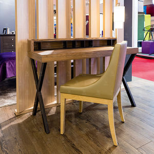 wooden desk / contemporary / for hotel / with storage