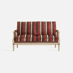Louis XVI style sofa / beech / fabric / for hotel
