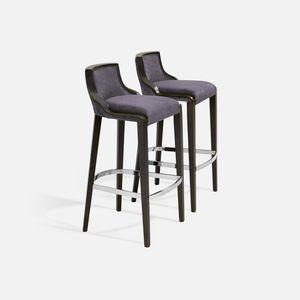 contemporary bar stool / beech / fabric / for restaurants