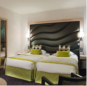 double bed headboard / contemporary / wooden / for hotel rooms