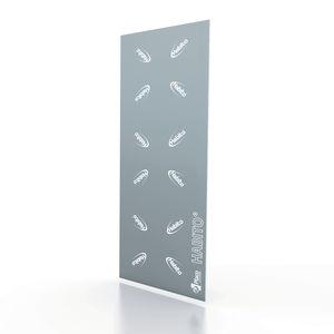 high-resistance plasterboard / water-repellent / impact-resistant / rectangular