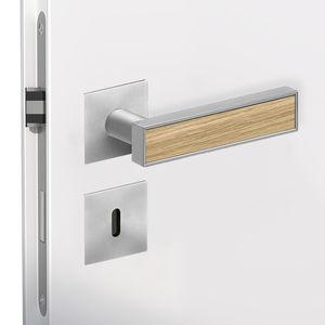 door handle / zamak / contemporary / satin finish