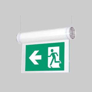 hanging emergency light / rectangular / LED / polycarbonate