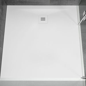 square shower base / recessed / Solid Surface / extra-flat
