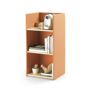 low bookcase / contemporary / for office / wooden