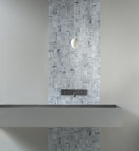 indoor mosaic tile / wall / glass / square