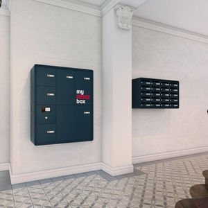 wall-mounted mailbox / built-in / floor-mounted / collective