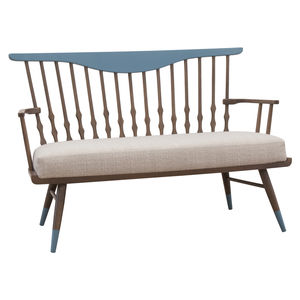 contemporary sofa / fabric / wooden / for public buildings