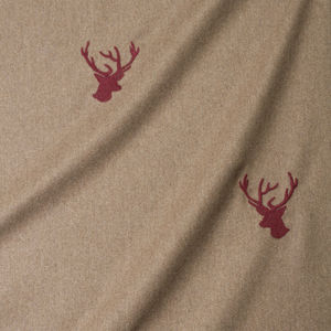 upholstery fabric / animal motif / wool / contract
