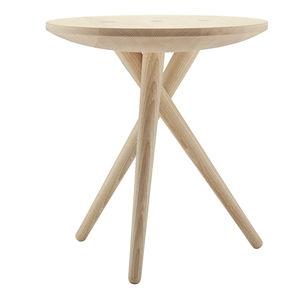 contemporary side table / oak / walnut / ash