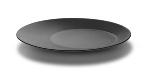 serving plate / round / melamine / commercial