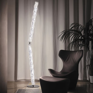 floor-standing lamp / original design / stainless steel / Lentiflex®