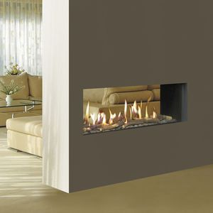 closed gas hearth / 1-sided / double-sided / central