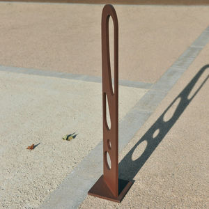 security bollard / COR-TEN® steel / high