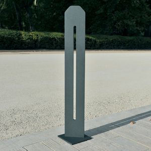 parking prevention bollard / COR-TEN® steel / high