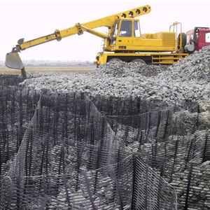 reinforcement geogrid / for retaining walls / polyethylene