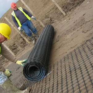 wire foundation mesh / soil reinforcing / iron / elongated mesh