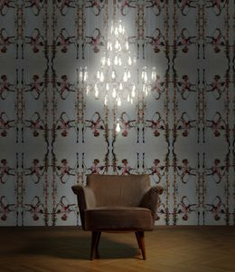 custom chandelier / contemporary / Limoges porcelain / LED