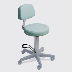 contemporary stool / metal / synthetic leather / for beauty salons