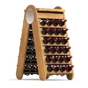 wooden bottle rack