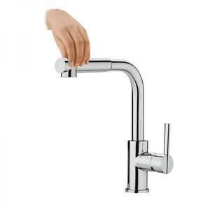 chromed metal mixer tap / ABS / kitchen / 1-hole