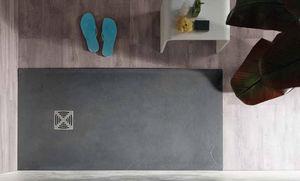 rectangular shower base / ready-to-tile / natural stone / resin