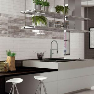 kitchen tile / wall / ceramic / rectangular