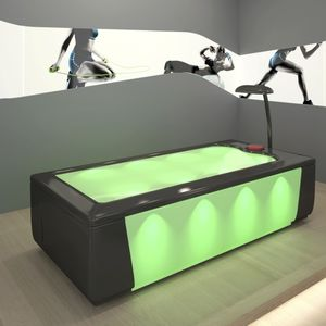 water massage table with chromotherapy