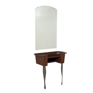 contemporary dressing table / wooden / metal / wall-mounted