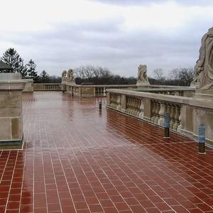 terracotta paving / pedestrian / for public spaces / outdoor