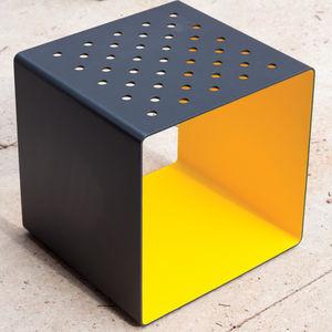 contemporary stool / wooden / sheet steel / HPL