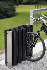 galvanized steel bike rack / stainless steel / rubber / original design