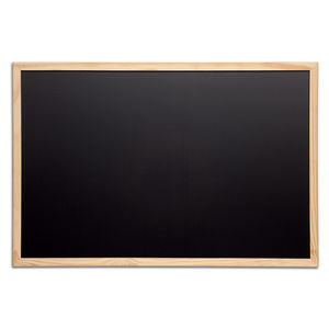 blackboard / wall-mounted / wooden