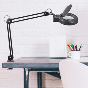 desk lamp / contemporary / metal / glass