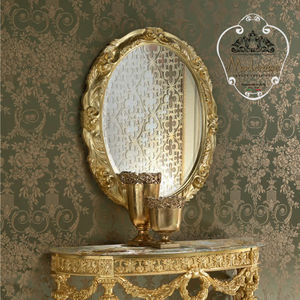 wall-mounted mirror / classic / oval / for hotel